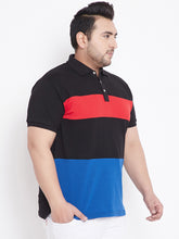 bigbanana Duke Black Colorblock Polo T-Shirt