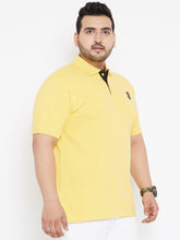 plus size Tom Pique Polo tshirt Yellow