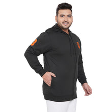 bigbanana Gale-Black Solid Antimicrobial Hooded Sweatshirt