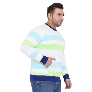 bigbanana Benjamin Multi Color Plus Size Sweatshirt