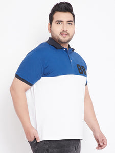 bigbanana Colman White & Royal Blue Polo T-Shirt