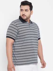 bigbanana Antistar Black Colorblock plus size Polo T-Shirt