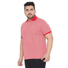 bigbanana Bichel Pink Colourblocked Polo Collar T-shirt