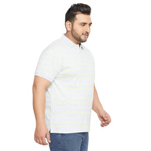 bigbanana Mornington Grey Striped Polo Collar T-shirt