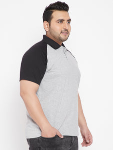 bigbanana Midas Colorblocked Polo TShirt in Raglan Sleeves