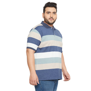 bigbanana Grafton Multicoloured Colourblocked Polo Collar Bio Finish T-shirt