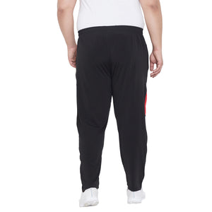 bigbanana Slack Black Colorblocked Plus Size Track Pants