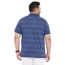 bigbanana Kingston Blue Striped Polo Collar Bio Finish T-shirt