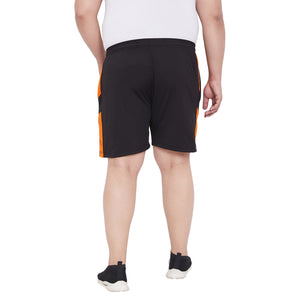 bigbanana Jayden Black Solid Regular Fit Sports Shorts