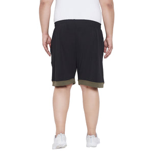 bigbanana Foster Black Solid Regular Fit Regular Shorts
