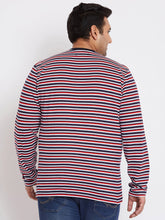 bigbanana Dublin Multi Striped Henley Plus Size T-Shirt