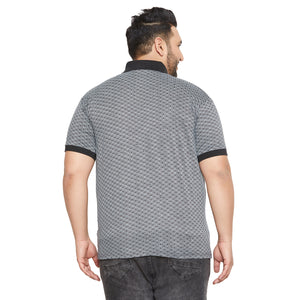 bigbanana Bathurst Grey Printed Polo Collar T-shirt