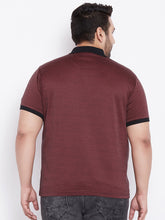 bigbanana Nicholas  Brown Solid Polo Collar T-shirt - Bigbanana