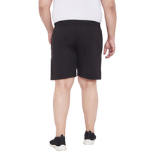 bigbanana Ivaan Black Solid Regular Fit Sports Shorts