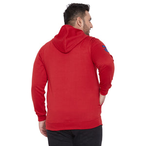 bigbanana Gale-Red Solid Hooded Antimicrobial Sweatshirt
