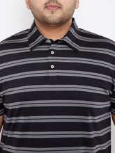 bigbanana Hudson Striped Black Polo T-Shirt