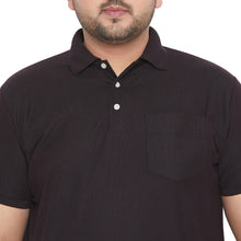 bigbanana bbsie-Black Solid Polo T-Shirt