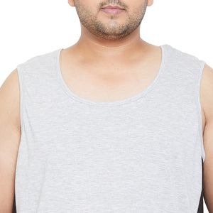 bigbanana Snow Grey Colourblocked Innerwear Vest