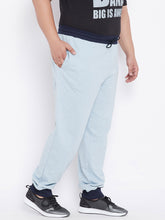 bigbanana Abel Men Sky Blue Joggers in Nappy Melange - Bigbanana