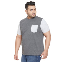 bigbanana Aleen Grey Colorblock Round Neck T-shirt