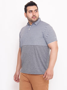 XL Alley Polo Grey T-shirt with Stripes