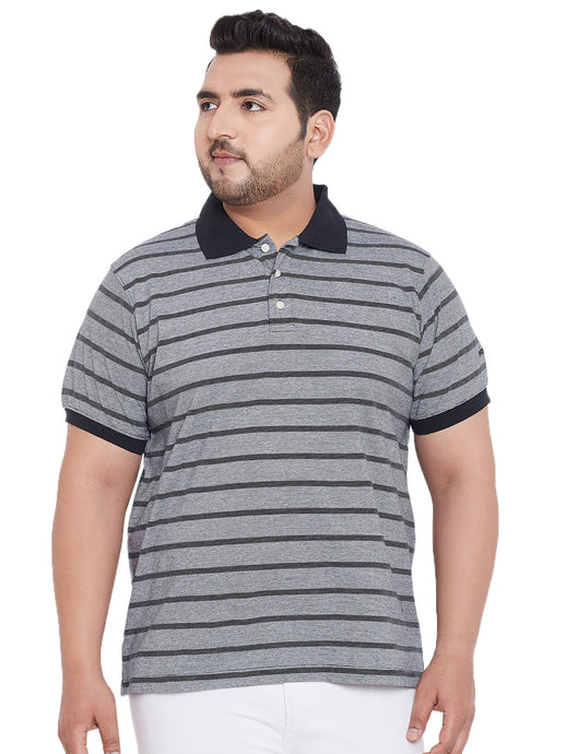 bigbanana Antistar Black Colorblock Polo T-Shirt