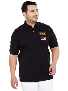 bigbanana Military Black Polo T-Shirt