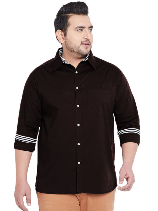 Men Kemp Classic Regular Fit Solid Plus Size Casual Shirt