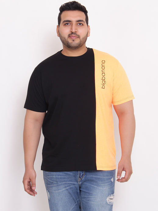 Bill Round Neck black Color blocked tshirt