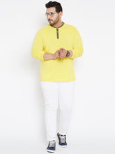 plus size yellow Henley Tshirt