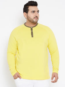 Yellow Henley Tshirt