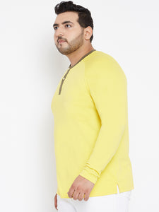 XL Yellow Henley Tshirt