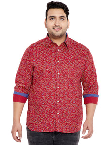 bigbanana Cal Red Printed Shirt