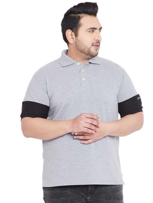 bigbanana Cary Grey Colorblocked Polo T-Shirt