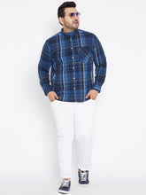 Casual Shirts in Navy and Royal Blue Check