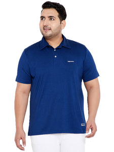 bigbanana Chaser Royal Blue Solid Polo T-Shirt
