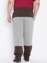 bigbanana Davis Men Grey Colorblock Joggers - Bigbanana
