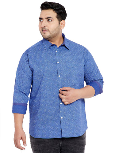 bigbanana Earl Blue Printed Shirt
