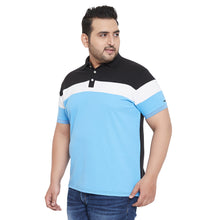 bigbanana Evelyn Multicolor Plus Size Colorblocked Polo T-Shirt