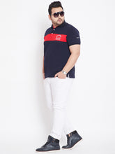 bigbanana Fraser Navy Blue Solid Polo T-Shirt