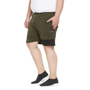 bigbanana Gamel Olive Solid Antimicrobial Sports Shorts