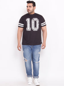 Round Neck Black T Shirt