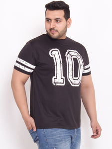 Curt Round Neck Black T Shirt