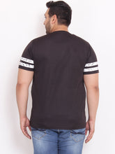 XL Round Neck Black T Shirt