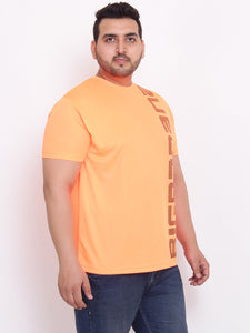 bigbanana Mike Round Neck orange printed  tshirt - Bigbanana