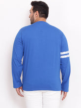 bigbanana Keith Henley Royal blue color with stripe on sleeves - Bigbanana