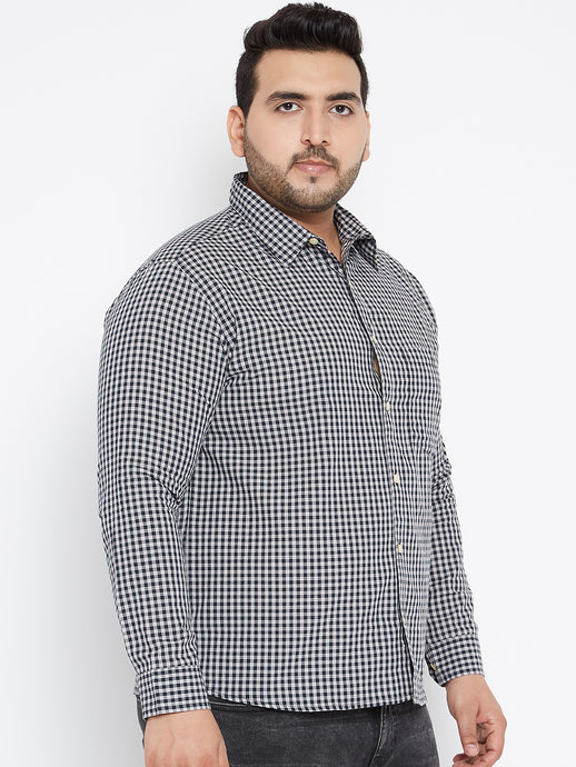 Long Sleeves JAKE  Black and White Casual Shirt