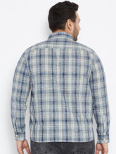 Long Sleeves JAXON  Sky Blue and White Casual Shirts in Madras Checks - Bigbanana