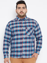 Long Sleeves JOSEPH Casual Shirts in Navy Blue Buffalo Checks