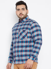 JOSEPH Casual Shirts in Navy Blue Buffalo Checks